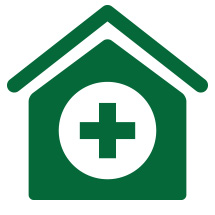 Icon: House with medical cross