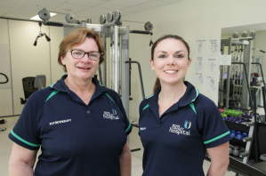 FSH senior Physiotherapists Dianne Lunt and Caitlin Vicary