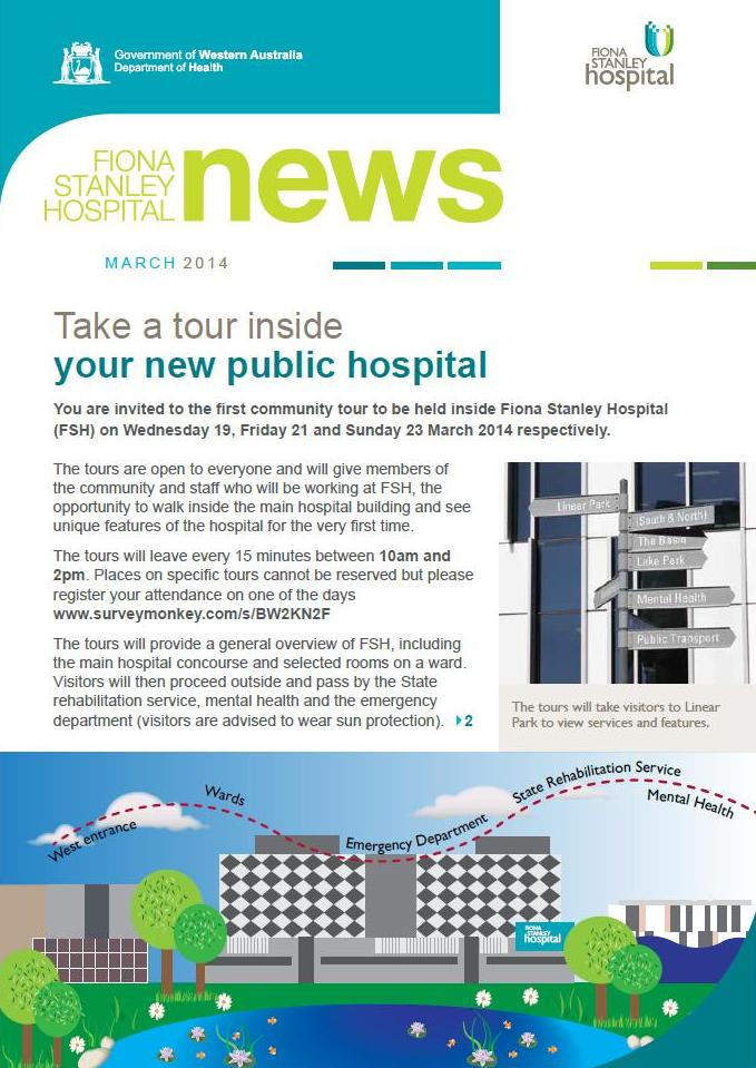 FSH, newsletter, Fiona Stanley Hospital, March 2014