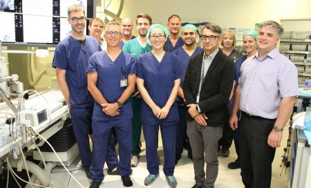 Neuro-Interventional and Imaging Service of WA team members in the Neuro-Interventional Suite.